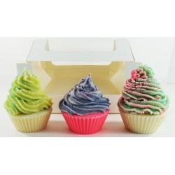 Cupcake Soaps Gift set - Fir, Cedar, Pecan | Handmade | Natural | Vegan