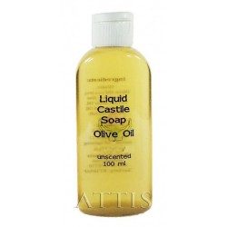 ATTIS Liquid Castile Soap  - unscented - 100ml - Olive Oil content min 50% - Handmade