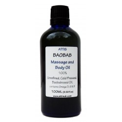 Baobab Massage and Body Oil - 100ml | Handmade | 100% Natural | Vegan