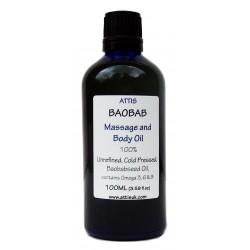 Baobab Massage and Body Oil - 100ml | Handmade | 100% Natural | Vegan