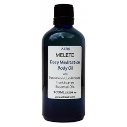 Melete - Deep Meditation Body Oil - 100ml | Handmade | 100% Natural | Vegan