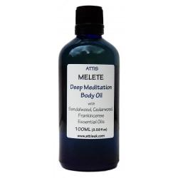 Melete - Deep Meditation Body Oil - 100ml   Handmade   100% Natural   Vegan