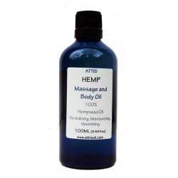 Hemp Massage & Body Oil - 100ml   Handmade   100% Natural   Vegan