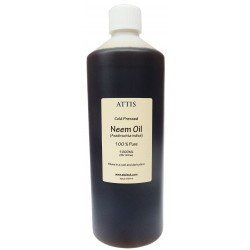 ATTIS Unrefined Cold Pressed NEEM OIL | 100% Pure |100ML, 500ML, 1000ML
