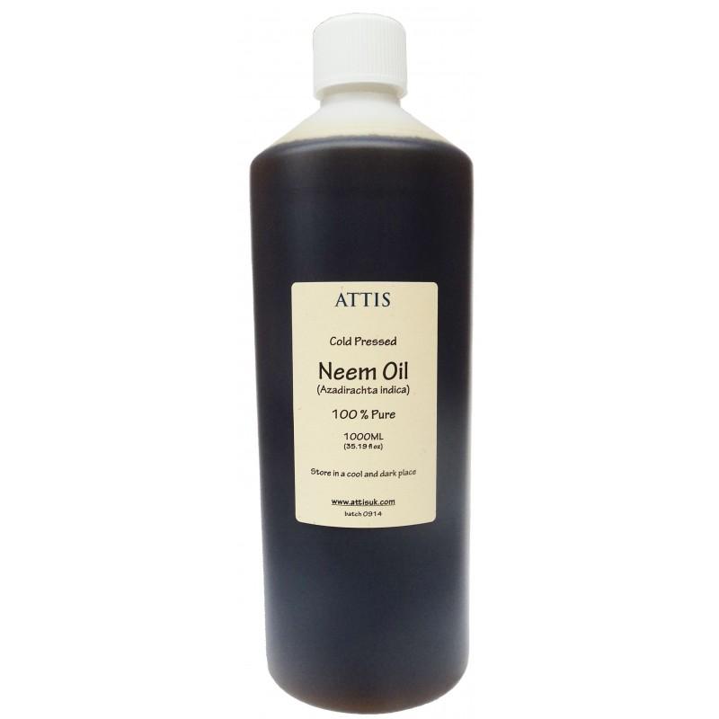 ATTIS Unrefined Cold Pressed NEEM OIL   100% Pure  100ML, 500ML, 1000ML