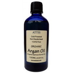 ATTIS Organic Cold Pressed Unrefined ARGAN Oil 100ML