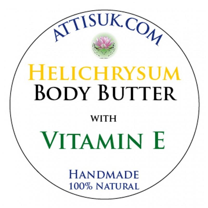 ATTIS Helichrysum Body Butter with Vitamin E | Vegan | moisturising | rehydrating