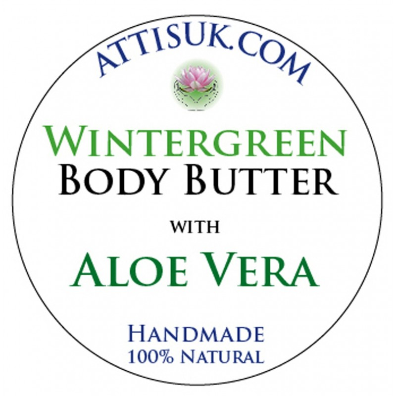 ATTIS Wintergreen Body Butter with Aloe Vera   Vegan   moisturising   rehydrating