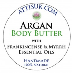 ATTIS Argan Body Butter with Frankincense and Myrrh | Vegan | moisturiser