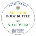 ATTIS Sulphur Body Butter with Aloe Vera   Vegan   with Lavender and Tea Tree Essential Oils
