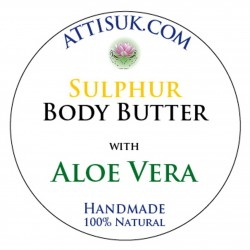 ATTIS Sulphur Body Butter with Aloe Vera | Vegan | with Lavender and Tea Tree Essential Oils