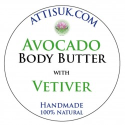 ATTIS Avocado Body Butter with Aloe Vera | Vegan | with Vetiver Essential Oil