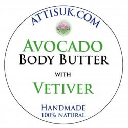 ATTIS Avocado Body Butter with Aloe Vera | Vegan | with Vetiver Essential Oil