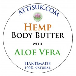 ATTIS Hemp Body Butter with Aloe Vera | Vegan | with Ylang Ylang Essential Oil