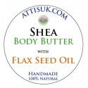 ATTIS Shea Body Butter with Flax Seed Oil | Vegan | with Rosemary Antioxidant
