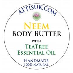 ATTIS Neem Body Butter with Tea Tree Essential Oil | Vegan