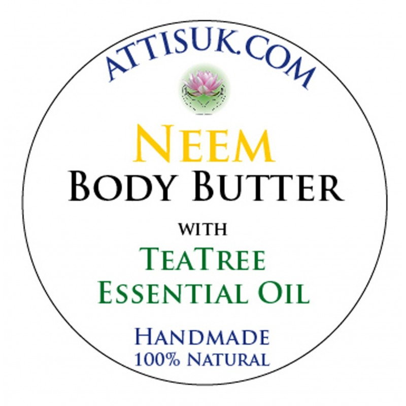 ATTIS Neem Body Butter with Tea Tree Essential Oil | Vegan
