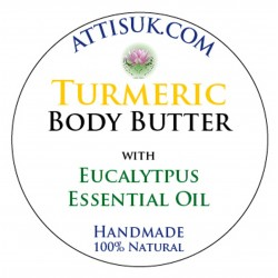 ATTIS Turmeric Body Butter with Eucalyptus Essential Oil | Vegan