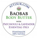ATTIS Baobab Body Butter with Patchouli & Lavender Essential Oils | Vegan