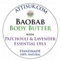 ATTIS Baobab Body Butter with Patchouli & Lavender Essential Oils | Vegan