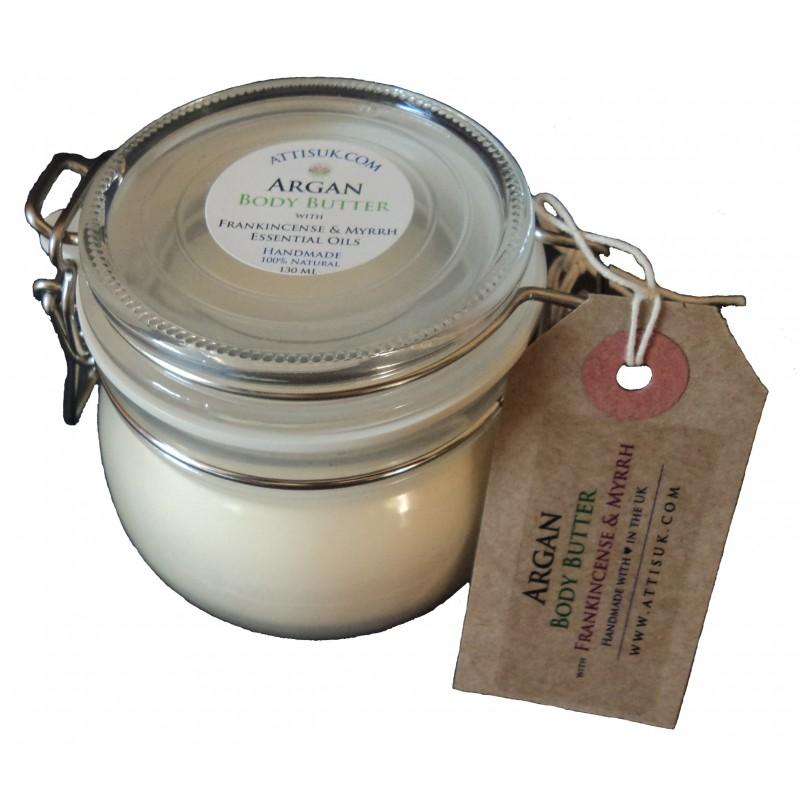 ATTIS Argan Body Butter with Frankincense and Myrrh | Vegan | moisturiser