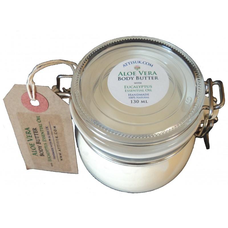 ATTIS Aloe Vera Body Butter with Eucalyptus Essential Oil | Vegan