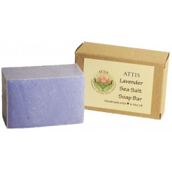 ATTIS Lavender Salt Bar Handmade Natural Soap | Vegan | Palm Oil Free