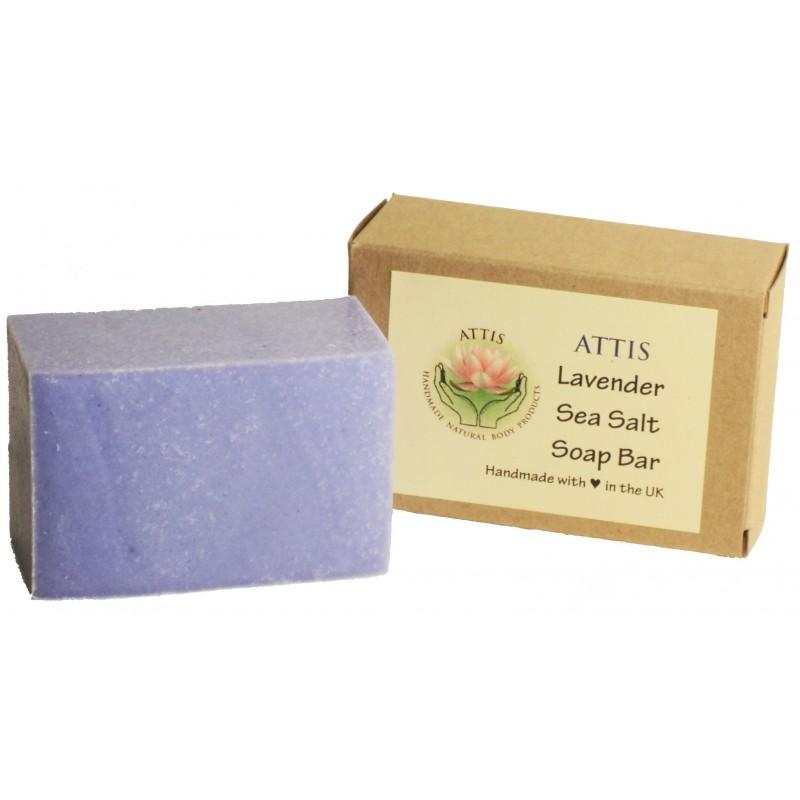 ATTIS Lavender Salt Bar Handmade Natural Soap | Vegan | Palm Oil Free
