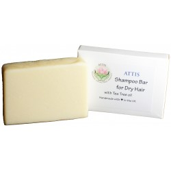 ATTIS Shampoo Bar for Dry Hair | Natural | Handmade | with Almond Oil and Tea Tree Essential Oil