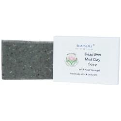ATTIS Dead Sea Mud Clay Handmade Natural Soap | with Organic Coconut Oil & Aloe Vera gel | 100g (1pc)