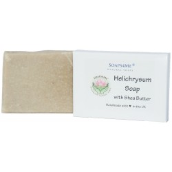 SOAPS4ME Helichrysum Handmade Natural Soap | with Aloe Vera, Shea Butter, Helichrysum Essential Oil | 100g (1pc)