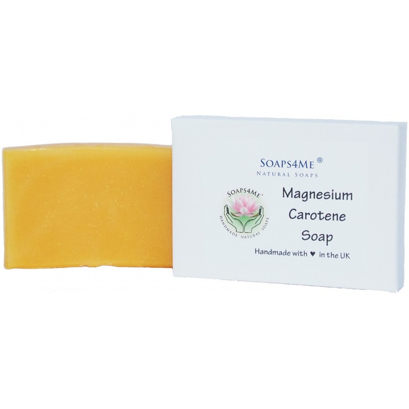 SOAPS4ME Magnesium & Carotene Handmade Natural Soap | with Shea Butter, Aloe Vera gel, Carrot Seed Essential Oil | 100g (1pc)