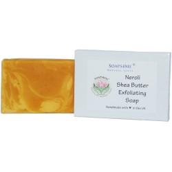 ATTIS Neroli and Orange peel Exfoliating Handmade Natural Soap | Vegan | with Shea Butter, Aloe Vera | 100g (1pc)