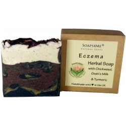 SOAPS4ME Eczema Herbal Natural Handmade Soap | Chickweed | Goat's Milk | Turmeric | Kaolin clay | Sandalwood | Helichrysum