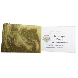 SOAPS4ME Moringa Handmade Natural Soap | with Shea Butter, Grapefruit essential oil and Moringa powder