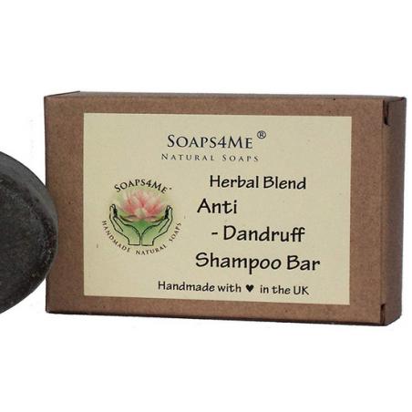 SOAPS4ME Handmade Anti-Dandruff Herbal Blend Shampoo Bar | with Ginger root | Reetha | Shikakai | Patchouli