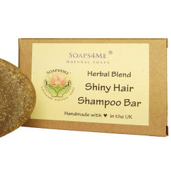 SOAPS4ME Handmade Shiny Hair Herbal Blend Shampoo Bar | with Ginger Root  | Henna | Chia Seed | Amla | Tulsi