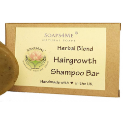 SOAPS4ME Handmade Hairgrowth Herbal Blend Shampoo Bar | with Amla | Bhringraj | Cassia | Shikakai | Reetha | Brahmi