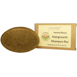 SOAPS4ME Handmade Hairgrowth Herbal Blend Shampoo Bar | with Amla | Bhringraj | Cassia | Shikakai | Reetha | Brahmi