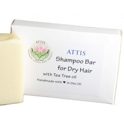 SOAPS4ME Shampoo Bar for Dry Hair | Natural | Handmade | with Almond Oil and Tea Tree Essential Oil