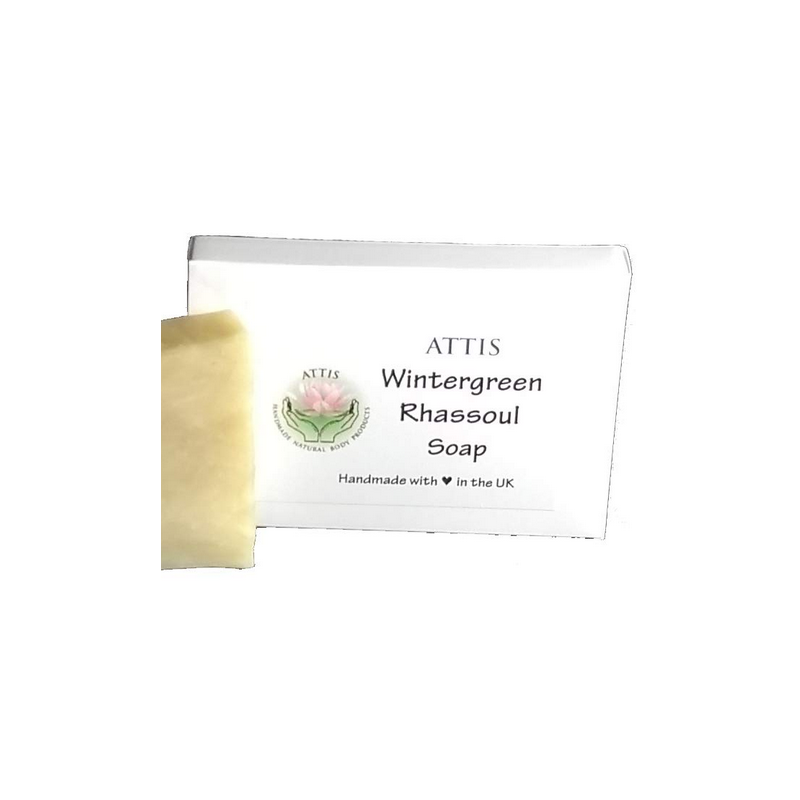 SOAPS4ME Wintergreen Handmade Natural Soap | with Aloe Vera gel, Shea Butter and Rhassoul Clay | 100g