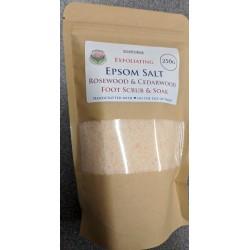 SOAPS4ME Exfoliating Epsom Salt Rosewood & Cedarwood Foot Scrub & Soak 250 GRAM