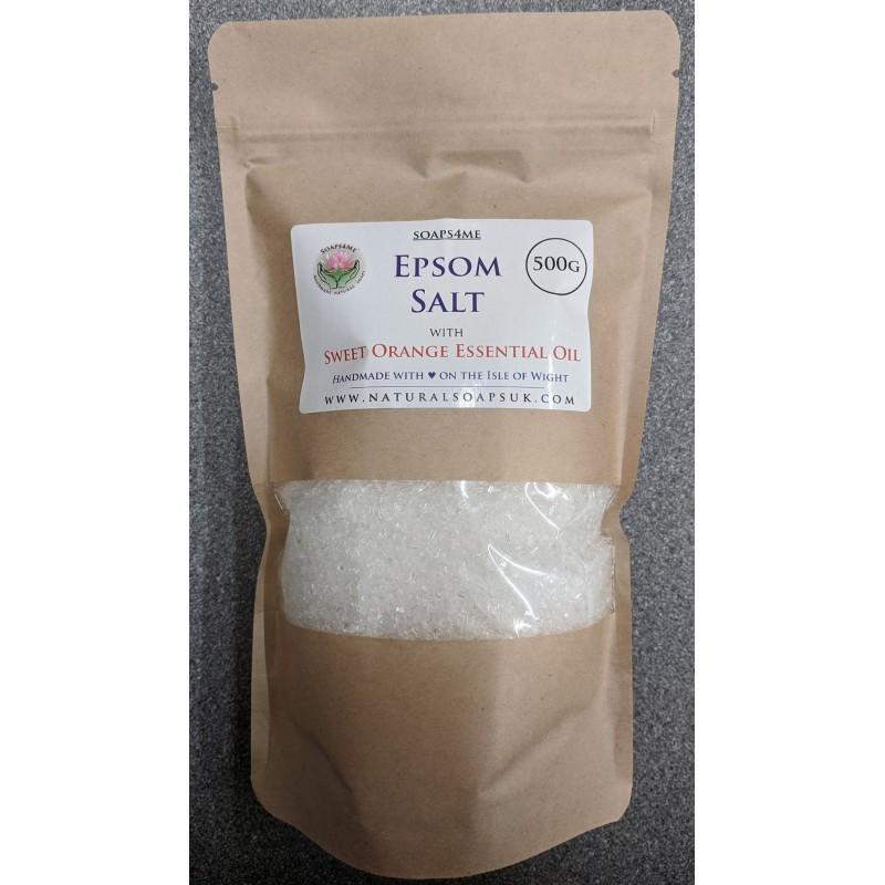 SOAPS4ME Epsom Salt with Sweet Orange Essential Oil 500 GRAM