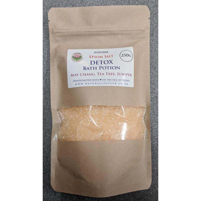 SOAPS4ME Epsom Salt Detox Bath Potion May Chang Tea Tree Juniper 250 GRAM