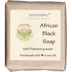 PS4ME African Black Soap with Plantain powder| Natural | Handmade